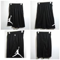 Celana Basket Nike Jordan RISE VERTICAL Hitam Putih KW GRADE ORIGINAL - Hitam, M