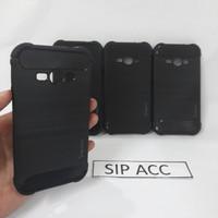 Case Silicon Carbon Samsung Galaxy J1 Ace Sofcase Casing