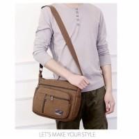 Shoulder Canvas Bag [Code:LOGAN] / Tas Import Kanvas Selempang