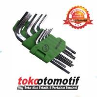 Kunci L Set Pendek 9 pcs 1.5-10 mm MEIJER ( Original ) murah