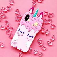 Silicone Rubber 3D Case Unicorn Series For Vivo Y69