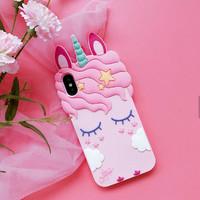 Silicone Rubber 3D Case Unicorn Series For Xiaomi Redmi 4X