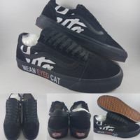 Sepatu Kets Vans Old Skool x Patta Mean Eyed Cat Full Black Hitam