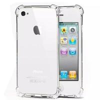 1 Case Anti Shock / Anti Crack Elegant Softcase for Apple iPhone 4 / 4