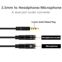 Splitter Audio Jack 3.55MM To Earphone Mic 2 IN 1 Stereo Cable