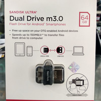 Flashdisk Sandisk Ultra Dual Drive m3.0 64GB Flash Drive for Android