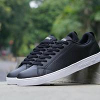 Adidas Neo Advantage Black / Putih Sepatu Sneakers Sekolah Pria Wanita