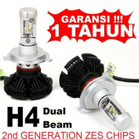 LED H4 Head Lamp Mobil With ZES 2nd G Chips Dual Beam