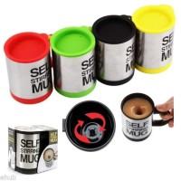 Trend Kecantikan Gelas mug self stirring aduk Otomatis Stainless steel