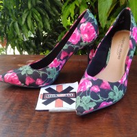 Sepatu Kerja Pesta wanita high heels Christian Siriano Floral