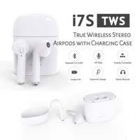 HEADSET BLUETOOTH 4.2 SPORT TRUE WIRELESS AIRPODS+CHARGER BOX HBQ i7S