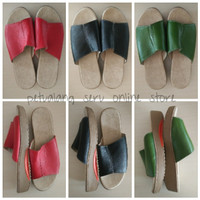 Sandal / Sendal Wanita Kulit Model Kokop/Nunung Wedges Heels