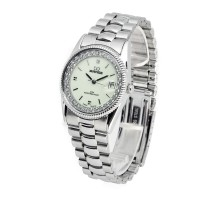 Jam tangan mirage permata original silver Rx 1579M Pp