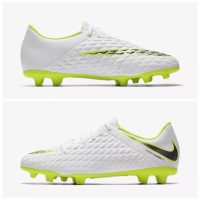 Sepatu Bola Nike Hypervenom 3 Club White Volt AJ4145 107 Original