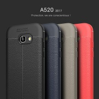 Samsung galaxy A520 hard back cover case leather soft armor A5 2017