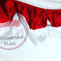Bendera Backdrop merah putih 5 m kualitas bahan fillament | termurah