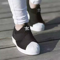 Sepatu Sneakers Adidas Superstar Slip On BW Women Premium Original