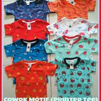 Kaos Motif Anak Cowok 1 - 4 Tahun Baju Kaos Anak Laki Printed Tee Boy