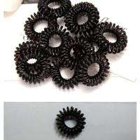 10 Pcs Ikat Rambut Spiral Warna Hitam