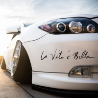 Sticker Racing Mobil La Vita e Bella utk Honda Suzuki Nissan BMW Mazda