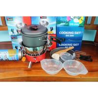 Paket Hemat masak | Cooking set DS 200 with kompor camping mawar