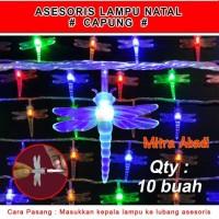 Aksesoris Hiasan Lampu Natal Model Capung 1 Sett = 10 pcs