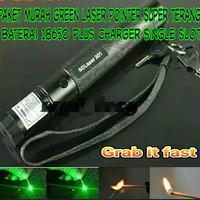 Paket Senter Laser Hijau Super Terang-Laser Pointer Green