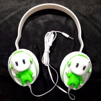 Headset Oppo Stereo Headphone handsfree Boneka Oppo Big Bass