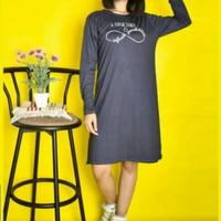 LEMONE Dress Wanita Premium Abu2