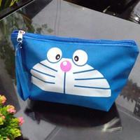 Tas Kosmetik Karakter Doraemon Dompet Pouch Doraemon Lucu Imut Sablon