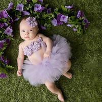 Kostum foto Bayi Properti Foto bayi rok tutu balerina kembang