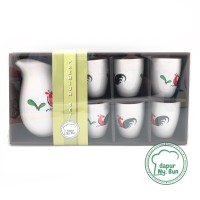 Set Water Jug & 6 Gelas Ayam Jago Seri 2 / Hampers/Gift/Paket Lebaran