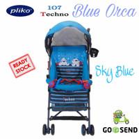 BABY STROLLER PLIKO 107 TECHNO BUGGY / KERETA DORONG BAYI [ SKY BLUE ]