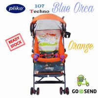 BABY STROLLER PLIKO 107 TECHNO BUGGY / KERETA DORONG BAYI [ ORANGE ]
