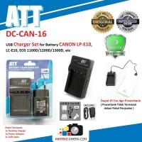 ATT Charger for Battery CANON LP-E10, LC-E10 (EOS 1300D/1200D/1100D)