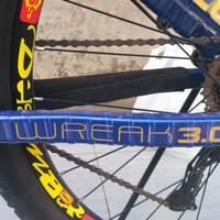 Pelindung frame sepeda transparan