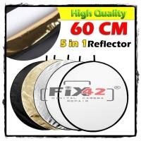 Reflector Reflektor 60cm 5 In 1 Flash Photo Studio Color.
