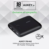 Aukey PB-N42 pocket powerbank 10000 mAh black original