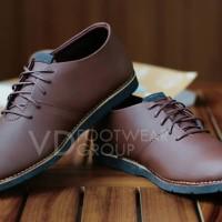 Sepatu Pantofel Pria MFT Sol Karet Semi Kulit Formal PDH Pantopel