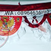 Bendera Backdrop atau background Garuda merah putih | 10 m | termurah