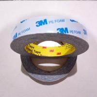 Lem double tape/tip/bolak balik/perekat 3M PE FOAM busa putih/abu