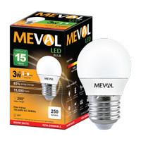 Meval LED Bulb 3W - Kuning