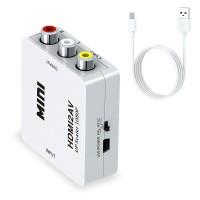 Converter HDMI Full HD to AV Video RCA Port Audio ke Konverter LCD TV