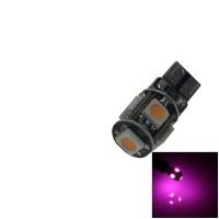 Lampu Senja LED T10 CANBUS Pink 5 Titik Mata Sein Mundur