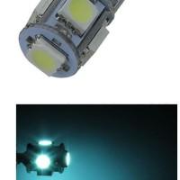 Lampu Senja LED T10 CANBUS Ice Blue Icy 5 Titik Mata Sein Mundur
