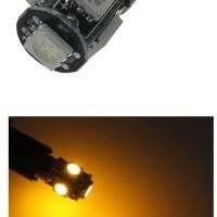 Lampu Senja LED T10 CANBUS Yellow 5 Titik Mata Kuning Sein Mundur