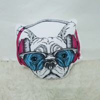 Boneka Plushie Dog / Anjing - Pink Headset size Large