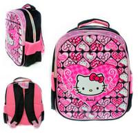 Tas ransel Hello Kitty TK impor backpack sekolah tebal kado anak