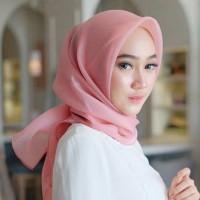 Neww!! Hijab Kerudung Jilbab Segi Empat Polos Organza