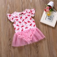 Baju Renang Bayi /Baby Girl Swimsuit /Baju Renang Anak motif Flamingo